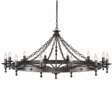 Elstead Warwick 12 Light Chandelier Graphite Black