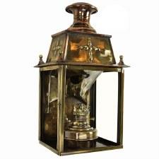 Warwick Flush Outdoor Lantern Light Antique Brass
