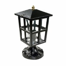 Warwick Pedestal Lantern Light Black