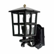 Warwick Up Outdoor Wall Light Lantern Black