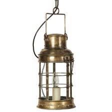 Watchmans Ceiling Pendant Lantern Light Antique Brass