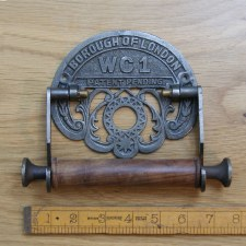WC1 Toilet Roll Holder Waxed Cast Iron