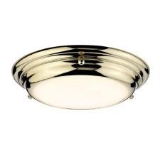 Elstead Welland Bathroom Mini Flush Polished Brass