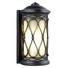 Feiss Wellfleet Outdoor Wall Lantern Aged Bronze