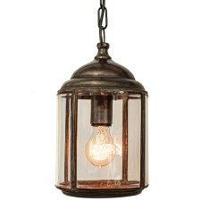 Wentworth Pendant Hanging Lantern Antique Brass