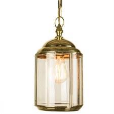 Wentworth Pendant Hanging Lantern Polished Brass