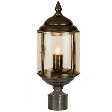 """Wentworth Lamp Post Head to suit 2"""" dia. Polished Brass"""