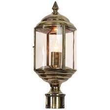 "Wentworth Lamp Post Head to suit 2"" dia. Light Antique Brass"