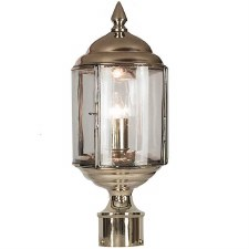 "Wentworth Lamp Post Head to suit 2"" dia. Polished Nickel"
