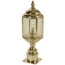 Wentworth Short Pillar Lantern Polished Brass