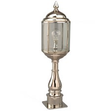 Wentworth Tall Pillar Lantern Nickel