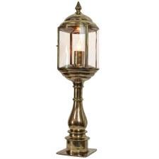 Wentworth Tall Pillar Lantern Renovated Brass