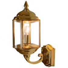 Wentworth Outdoor Wall Lantern Polished Brass