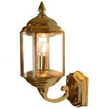 Wentworth Outdoor Wall Lantern Polished Brass