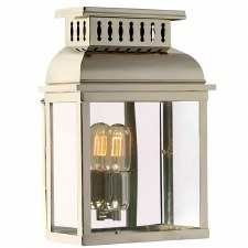 Elstead Westminster Abbey Outdoor Wall Lantern Polished Nickel
