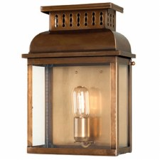 Elstead Westminster Abbey Outdoor Wall Lantern Antique Brass