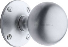 Heritage Westminster Mortice Knobs WES970 Satin Chrome