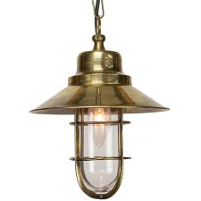 Wheelhouse Pendant Light, Light Antique Brass