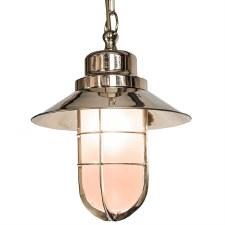 Wheelhouse Pendant Light Nickel Opal Glass