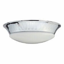 Elstead Whitby Bathroom Flush Light Polished Chrome