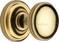 Heritage Whitehall Mortice Knobs WHI6429 Polished Brass