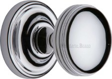 Heritage Whitehall Mortice Knobs WHI6429 Polished Chrome