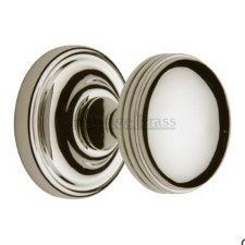Heritage Whitehall Mortice Knobs WHI6429 Polished Nickel