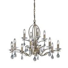 Willow Chandelier Light 12 Lights Bronze