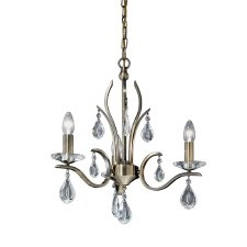 Willow Chandelier Light 3 Lights Bronze