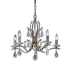 Willow Chandelier Light 5 Lights Bronze