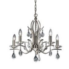Willow Chandelier Light 5 Lights Satin Nickel