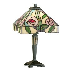 Interiors 1900 Willow Small Tiffany Table Lamp