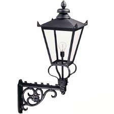 Elstead Wilmslow Outdoor Wall Light Lantern Black