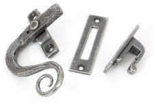 From The Anvil Locking Monkeytail Window Handle LH Pewter