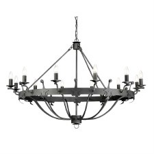 Elstead Windsor 12 Light Chandelier Graphite