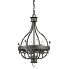 Elstead Windsor 4 Light Pendant Chandelier Graphite