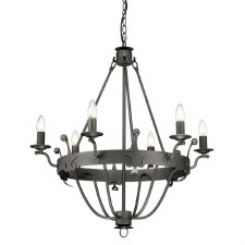 Elstead Windsor 6 Light Chandelier Graphite