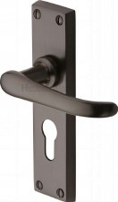 Heritage Windsor Euro Lock Door Handles V727 Matt Bronze