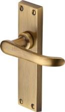 Heritage Windsor Door Latch Handles V713 Antique Brass Lacquered