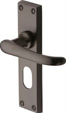 Heritage Windsor Oval Lock Door Handles V725 Matt Bronze