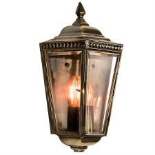 Windsor Outdoor Passage Lantern, Light Antique Brass