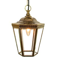 Windsor Hanging Pendant Lantern Light Antique Brass