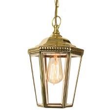 Windsor Hanging Pendant Lantern Polished Brass