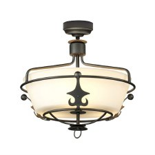 Elstead Windsor Semi Flush Light Graphite