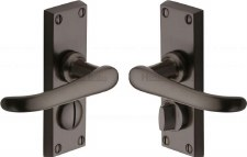 Heritage Windsor Privacy Door Handles V735 Matt Bronze