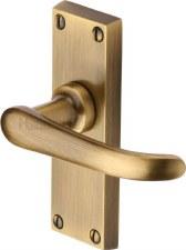 Heritage Windsor Door Latch Handles V710 Antique Brass Lacquered