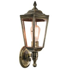 Windsor Outdoor Wall Lantern, Light Antique Brass