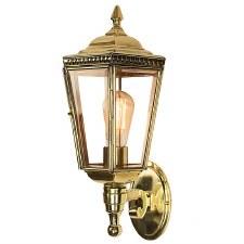 Windsor Outdoor Wall Lantern Polished Brass