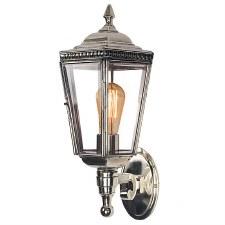 Windsor Outdoor Wall Lantern Polished Nickel