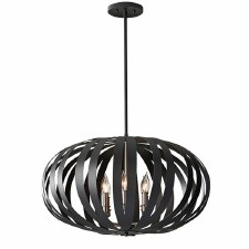 Feiss Woodstock Large Chandelier Black